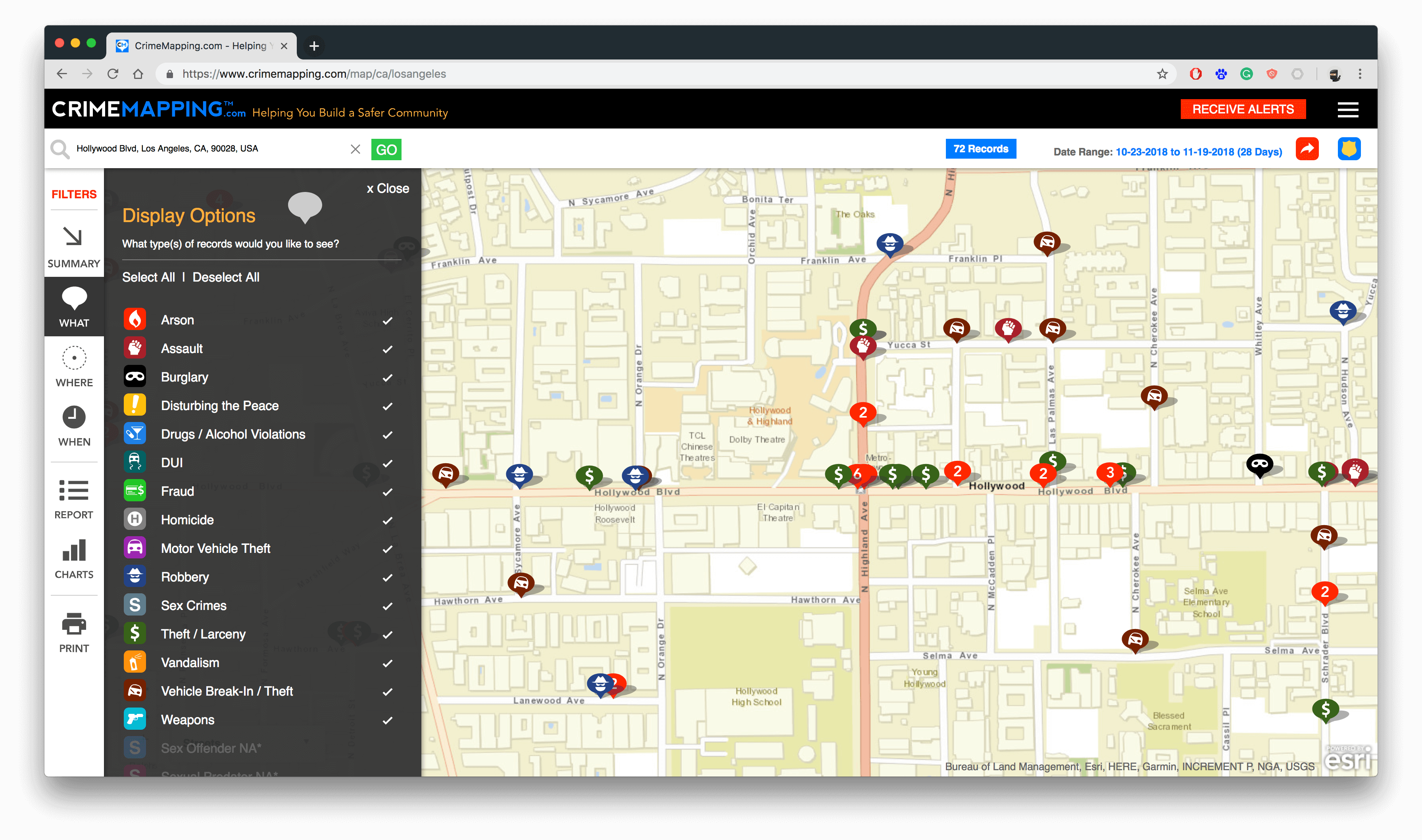 Crime Mapping Service