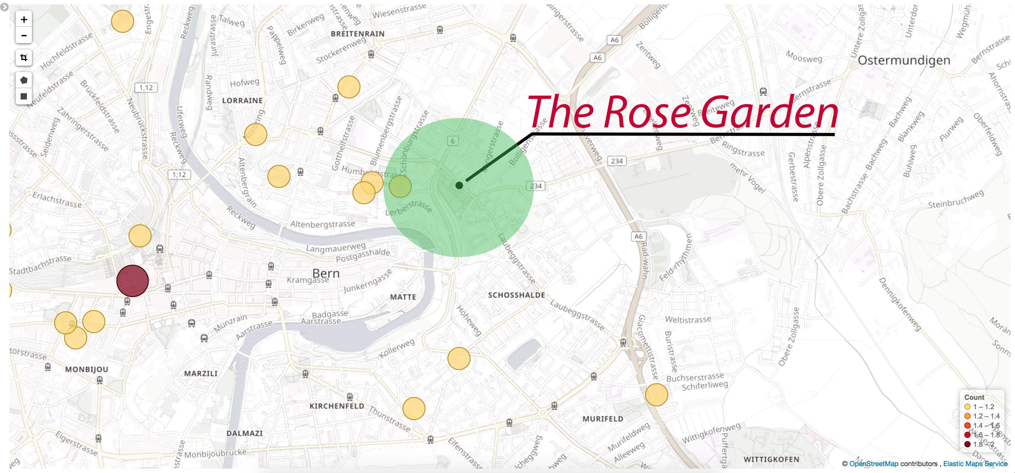 Rose Garden 500m radius search