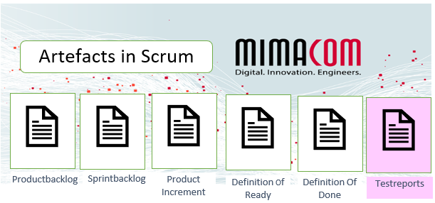 scrum artefacts with added test artefact