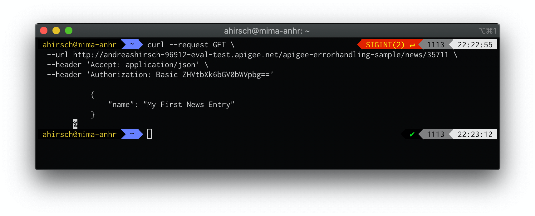 Using cURL to Send a Request to a REST API