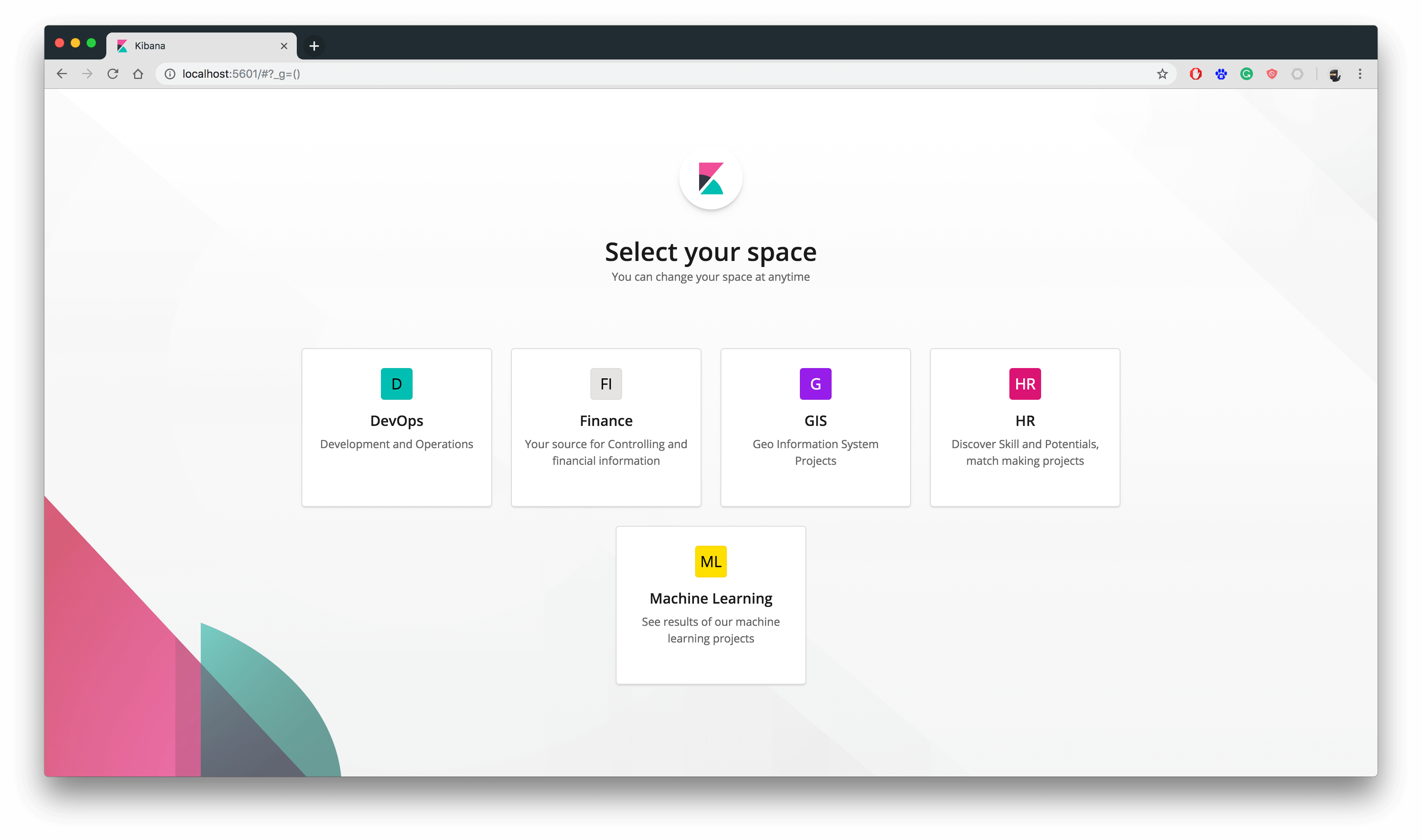 Kibana Workspaces